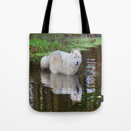 Wolf Reflection Tote Bag