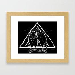 BLESS THE NECKBEARD Framed Art Print