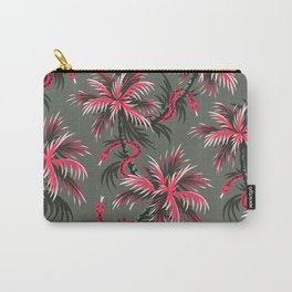 Snake Palms - Light Vintage Coral Carry-All Pouch