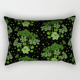 Green Geraniums Rectangular Pillow