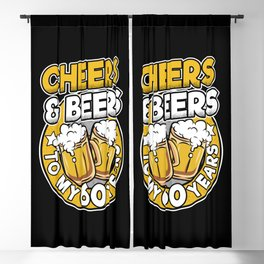 Cheers and Beers To My 60 Years 60th Birthday Gift Blackout Curtain
