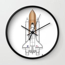 NASA Space Shuttle Blueprint in High Resolution (white)  Wall Clock