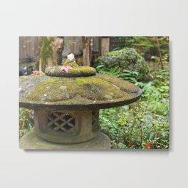 Stone lantern in Mino-o Metal Print