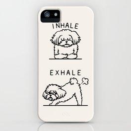 Inhale Exhale Maltese iPhone Case