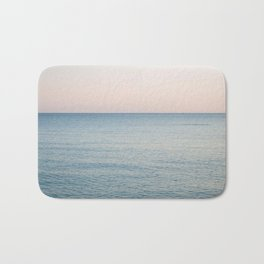 PINK SKY, BLUE SEA, EVENING SWIM Bath Mat