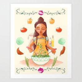 A Natural Cook Art Print