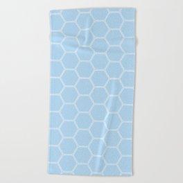 Honeycomb Light Blue #304 Beach Towel