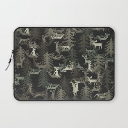 camo sweater with banging deers in the forest Laptop Sleeve