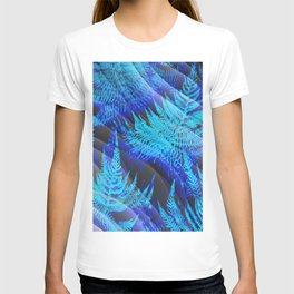 Icy Blue Ferns Nature Fantasy T-shirt