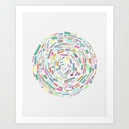 Round and Round Art Print