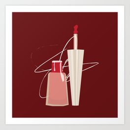 When Red Meets RED Art Print