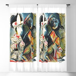 Pablo Picasso Le clown et l'Harlequin (The Clown and the Harlequin) 1971 Artwork, tshirt, tee, jerse Blackout Curtain