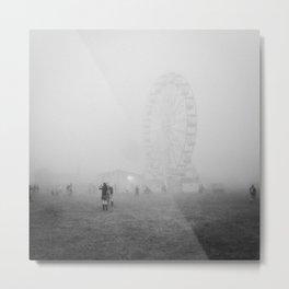 Hazy Ferris Wheel Metal Print