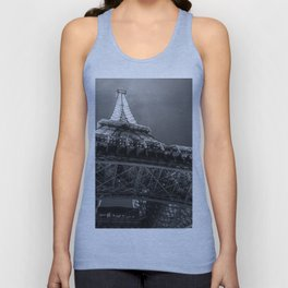 Eiffel Tower 2 (Black and White) Unisex Tank Top