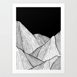 As The Mountains Rise Up Art Print