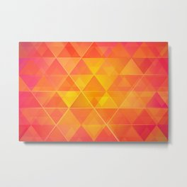 Colorful Abstract Triangle Metal Print