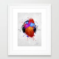 paramore Framed Art Prints featuring No Music - No Life by Sitchko Igor