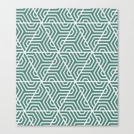 Wintergreen Dream - green - Geometric Seamless Triangles Pattern Canvas Print
