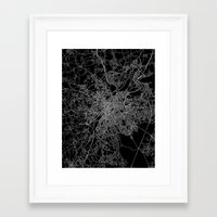 brussels Framed Art Prints featuring Brussels by Line Line Lines