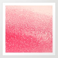 coral Art Prints featuring CORAL by Monika Strigel