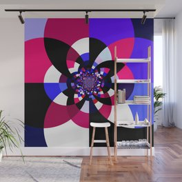 Magenta Purple Indigo Kaleidoscope Mandala Wall Mural