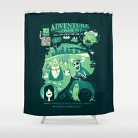 comics Shower Curtains featuring Adventure Comics by jublin
