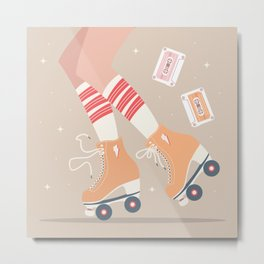 Roller skate girl 004 Metal Print