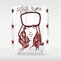 russia Shower Curtains featuring Mother Russia by Hoolianne