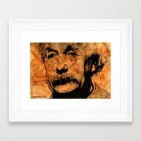 einstein Framed Art Prints featuring EINSTEIN by DeMoose_Art