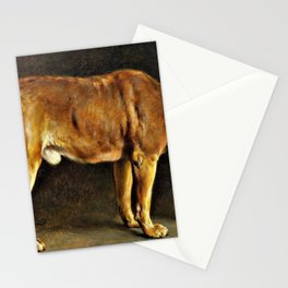 12,000pixel-500dpi - Otto Bache - A Broholmer dog looking at a stag beetle - Digital Remastered Stationery Cards