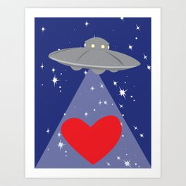 You Abducted My Heart Art Print