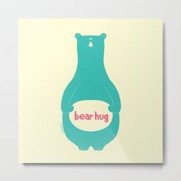 Bear Hug by zoolue Metal Print