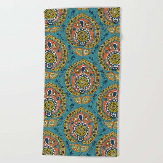 safa blue Beach Towel