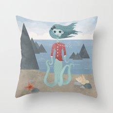 Sea Maiden Throw Pillow