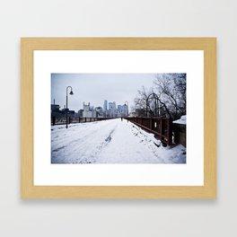 Minnesnowta Framed Art Print