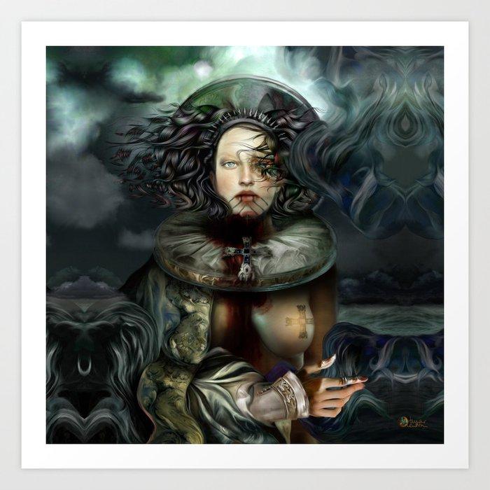 """Returning from a Dream Myth Creature"" Art Print"
