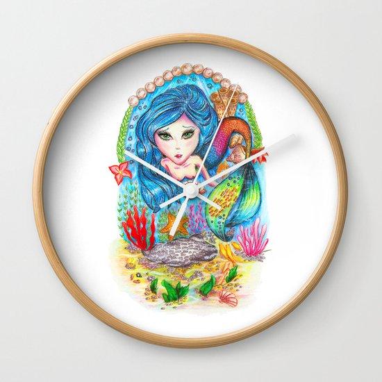 The Mermaid Wall Clock