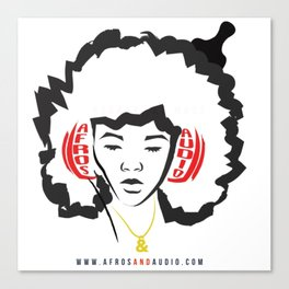 Afros & Audio Official Logo v2 Canvas Print