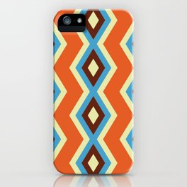 Geometric triangles shapes cool vibrant colors retro style iPhone Case