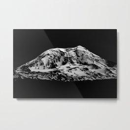 Mount Adams Black and White Metal Print