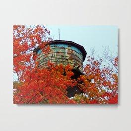 Water Tower in the Trees Metal Print
