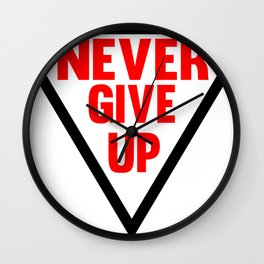 Never Give Up | Fitness & Bodybuilding Motivation Quote Wall Clock