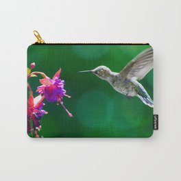 Anna's hummingbird visits our fucsias! Carry-All Pouch