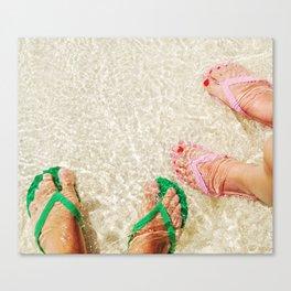 Feet at the beach Canvas Print