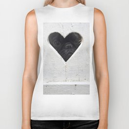 Peeking into your heart Biker Tank