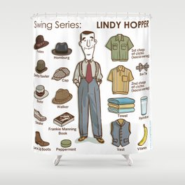 SWING SERIES: LINDY HOPPER (male) Shower Curtain