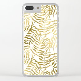 Gold Leaves 2 Clear iPhone Case