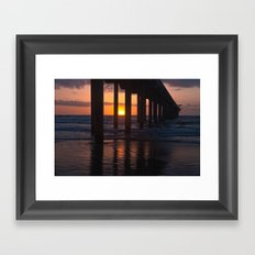 Sunset Captured Framed Art Print