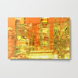 A waved skyscraper Metal Print