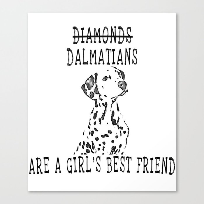 Cute Dalmatian Dog Canvas Print